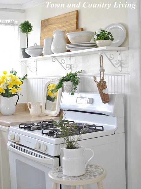 Adding open shelving in the kitchen