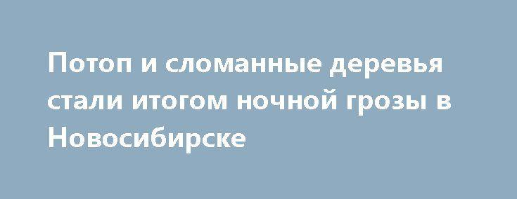 Потоп и сломанные деревья стали итогом ночной грозы в Новосибирске http://oane.ws/2017/06/10/potop-i-slomannye-derevya-stali-itogom-nochnoy-grozy-v-novosibirske.html  Минувшей ночью на Новосибирск обрушились ветер, дождь и гроза. В результате деревья падали на рядом стоящие машины, а котлован, находящийся на стройке, был наполнен водой. Фотографии аномальной погоды опубликовали пользователи соцсетей.