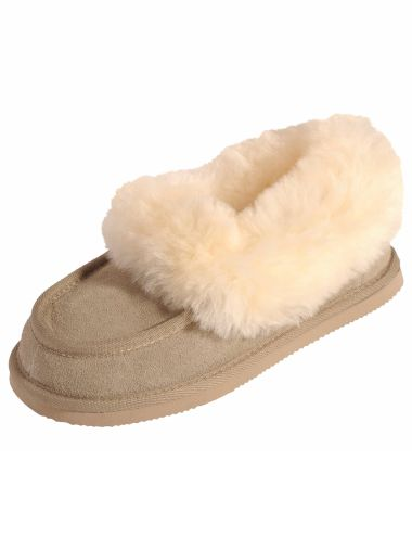 Take good care of your feet with these comfy Mi Wollies classic slippers which feature a leather upper.