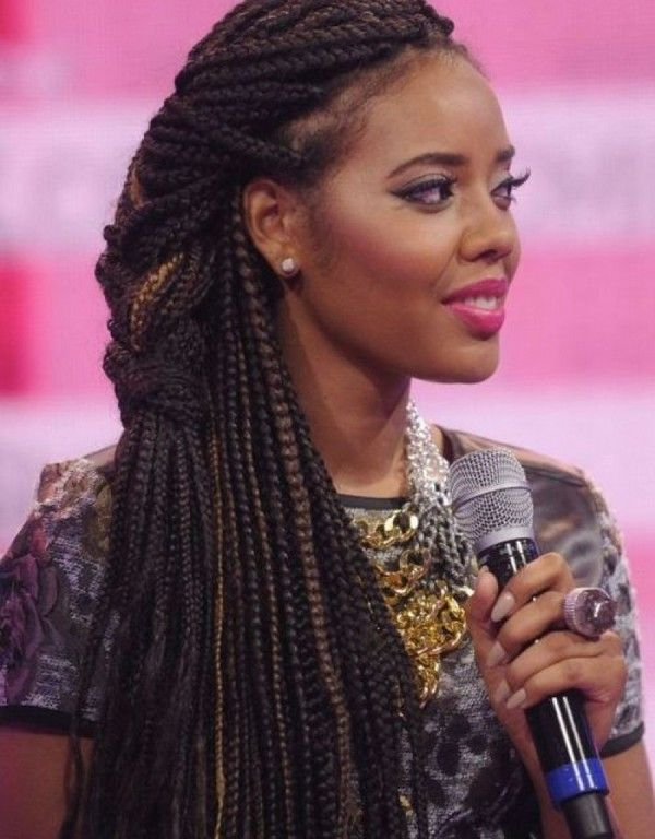 Box Braids Styles Updo
