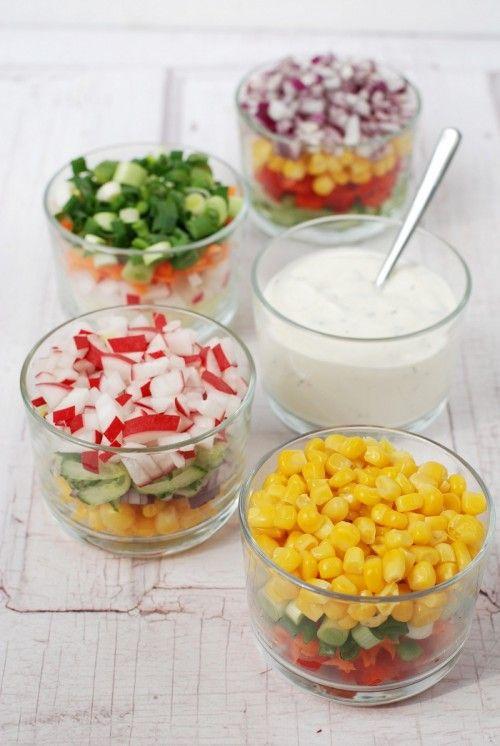 Rakott tarka saláta majonézes öntettel recept