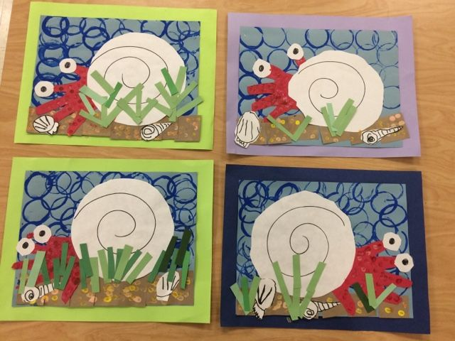 Art With Mr Giannetto Kindergarten Hermit Crabs Ocean