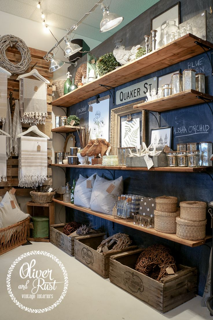 Oliver and Rust: The back of the store; more revamping! Merchandising heaven! I may have to move to Canada!