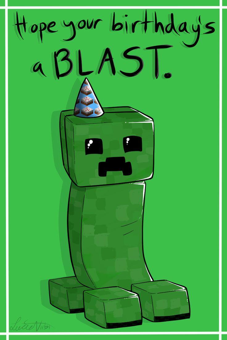 25+ best Minecraft birthday card ideas on Pinterest | Food cards ...