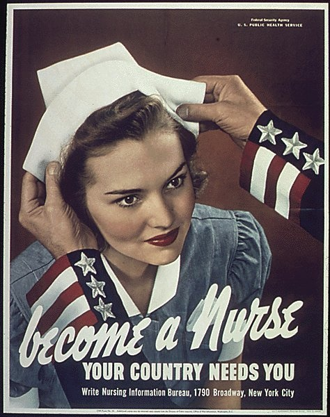 Love the makeup from this war campaign for nurses from 1942