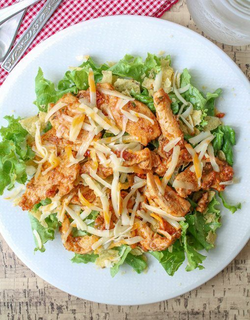 Easy Chicken Taco Salad