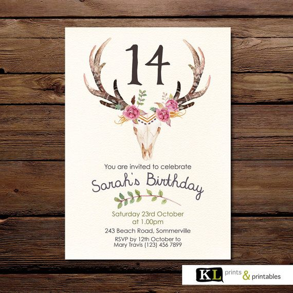 Tribal Birthday Invitation  party by KLprintsandprintable on Etsy
