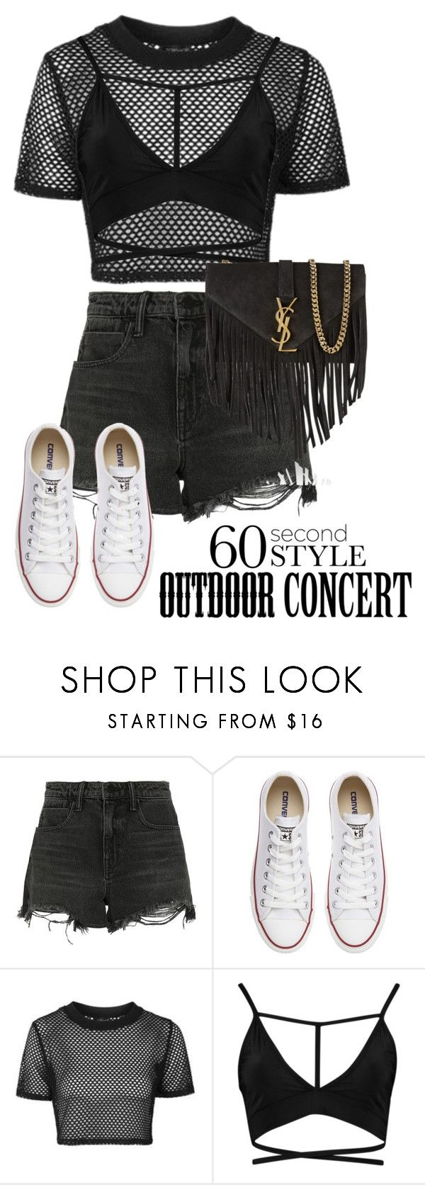 """Jon Bellion Pt III"" by jloveespinal ❤ liked on Polyvore featuring Alexander Wang, Converse, Topshop, Boohoo, Yves Saint Laurent, 60secondstyle and outdoorconcerts"