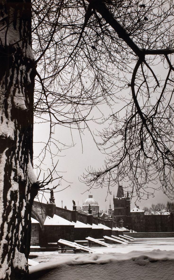 Winter Prague by Karel Plicka, 60's