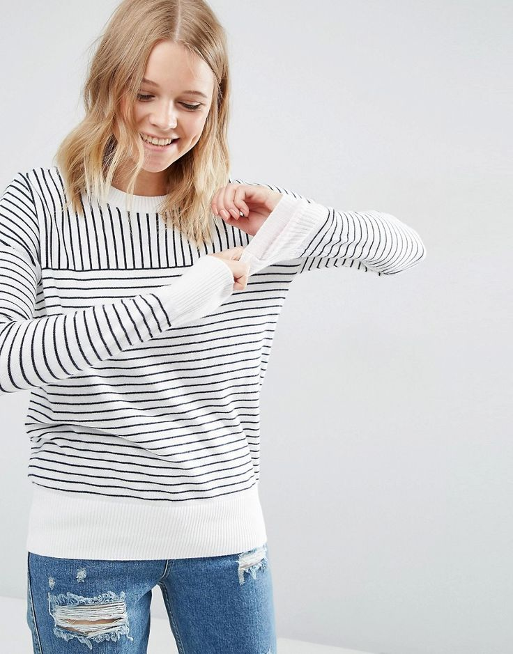 Image 1 - Abercrombie & Fitch - Pull en maille rayée