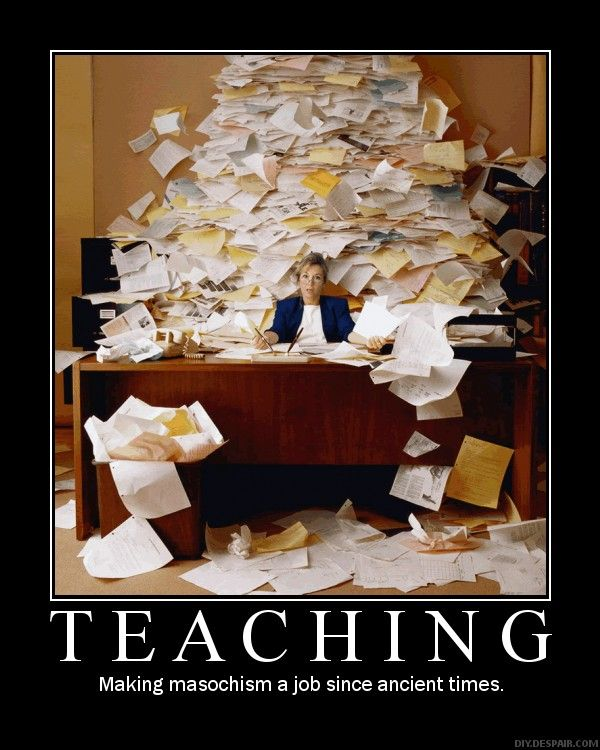 Demotivational Teacher Porn - Do you ever feel like the clutter in your office is starting to overwhelm  you? It's time to get back to work and get that clutter organized