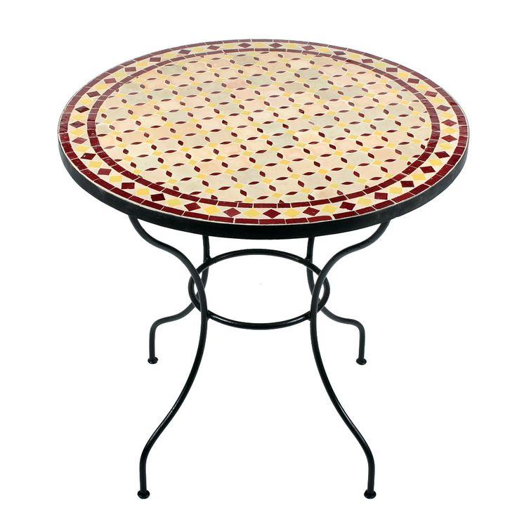 Gartentisch rund mosaik  20 besten Mosaiktische ø 80cm Bilder auf Pinterest | Runde ...