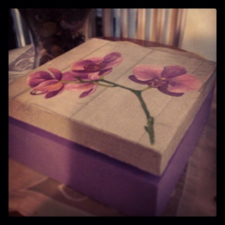 Wood box flower