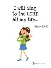Preschool Bible Verse Printables with a picture clue to help them remember what they are learning.