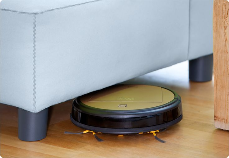 Low-Profile Robot | With a height of less than 4 (10.2 cm) tall, D80 is a low profile robot that easily finds dust bunnies under the furniture where they hide. Routine cleaning in these areas by D80 easily removes allergy-causing contaminants and doesn't require moving furniture as with traditional vacuum cleaners.