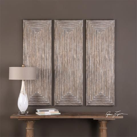 Uttermost lokono wall panel enhance an empty wall with the depth and dimension of the uttermost lokono wall panel
