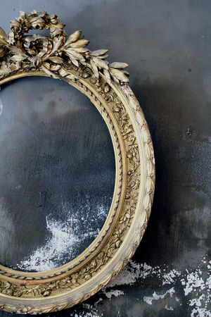 La-madone French antique mirrorVintage Mirrors, Empty Frames, Grey Wall, Antiques Mirrors, Vintage Frames, Old Frames, French Antiques, Black Wall, Mirrors Mirrors