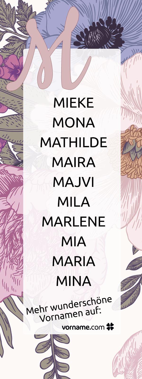 Du bist auf der Suche nach einem schönen Mädchennamen, der mit M beginnt? Bei uns findest Du alle Vornamen zu diesem Thema!