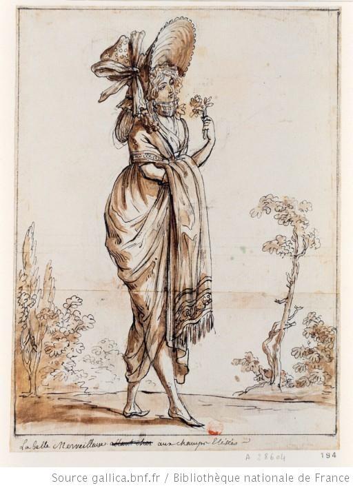 La belle Merveilleuse aux champs Elisées, 1798