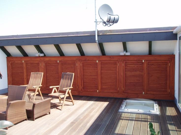 Obklad terasy - Garden furniture Prag - Custom Woodworkes - www.stoho.cz