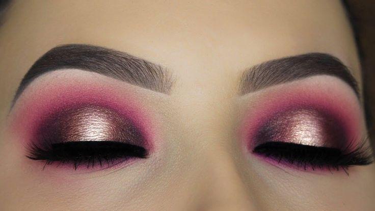Berry Halo Smokey Eye Makeup Tutorial