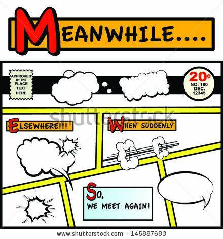Comic Book Start Up Page!  by Huston Brady, via Shutterstock