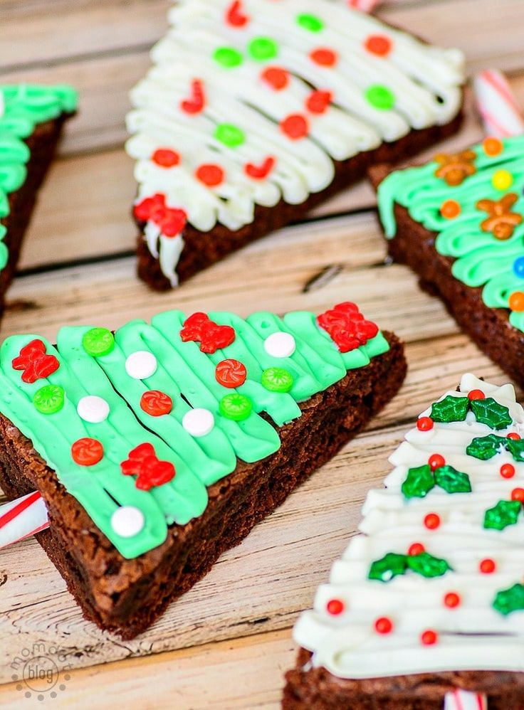 Christmas Tree Brownies Baking up Holiday Fun (With