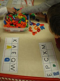 Letter recognition activity for letter matching