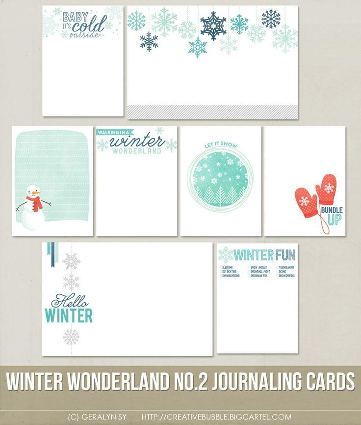 *NEW* Winter Wonderland no.2 Journaling Cards (Digital)