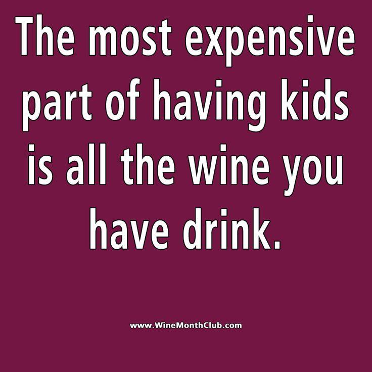 Kids are expensive #wine #humor #sassy