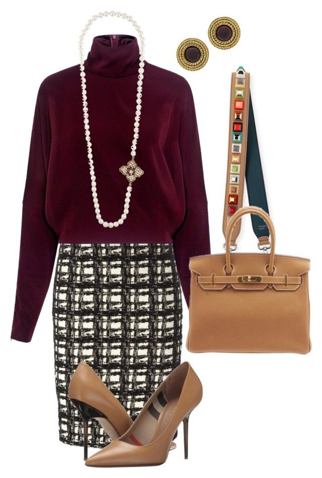 """""""Untitled #225"""" by sh-66-sh on Polyvore featuring Eggs, McQ by Alexander McQueen, Burberry, Fendi, Hermès and Chanel"""