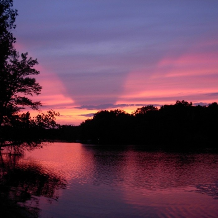 Sunsets are the best in Haliburton Highlands.