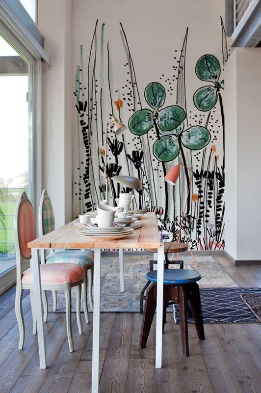 Gouache www.wallanddeco.com  #wallpaper, #wallcovering, #cartedaparati
