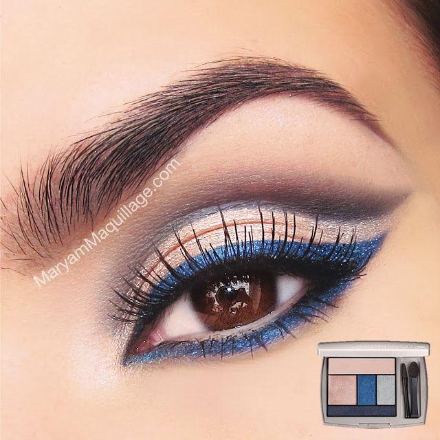 Delineador Azul : No se verá ochentero si solo trazas una línea azul al ras de las pestañas inferiores y te saltas la sombra.  Funciona con ojos cafés y hace que el blanco de los ojos sea más brillante.