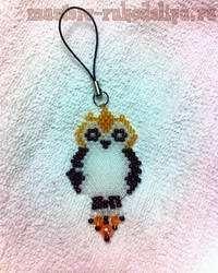 Beading scheme: Owl Keychain