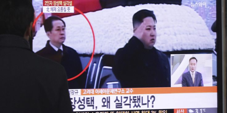 SEOUL, South Korea (AP) — South Korea's spy agency believes that North Korean leader Kim Jong Un's powerful uncle may have been dismissed from his posts last month, when two of his aides were executed, two lawmakers said Tuesday. The lawmakers said they were told by South Korea's National Intelligence Service that Jang has not been seen publicly since then, indicating he may have been sacked.