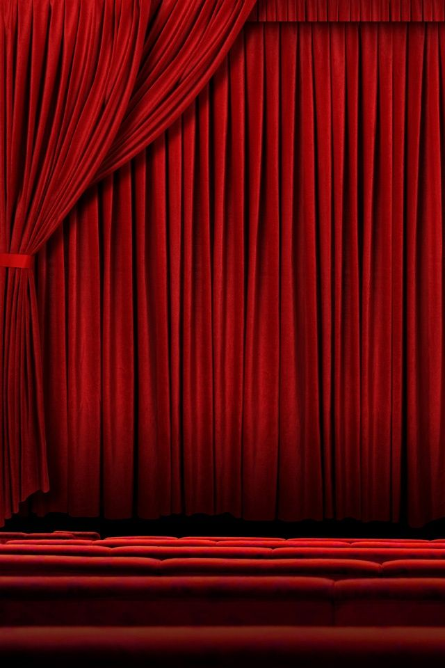 Red Draped Stage iPhone Wallpaper