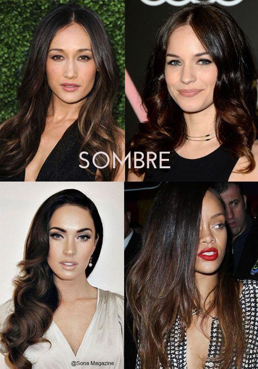 Sombre for black hair #sombre #ombre #brunette #blackhair | Sona Blog