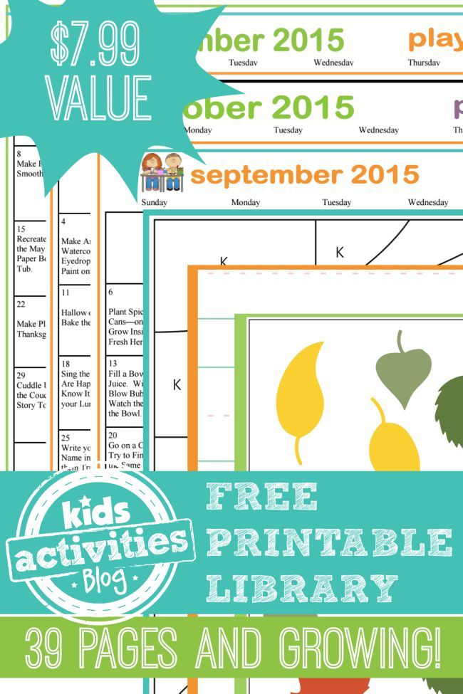 290 best Free Printables for Kids images on Pinterest | Activities ...