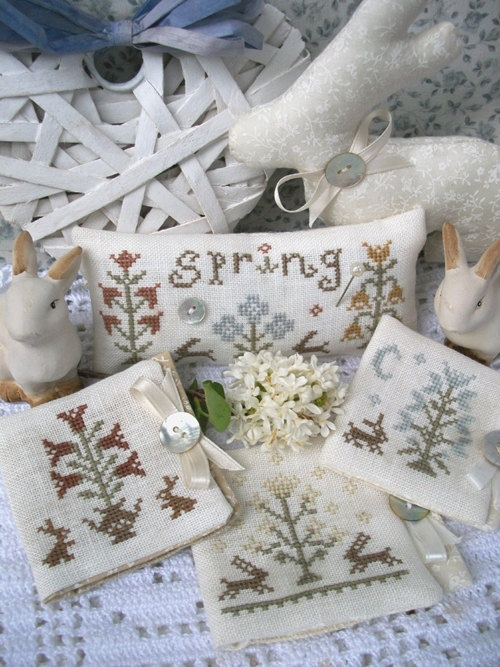 My Sweet Spring - Cross Stitch Patterns Set. $12.80, via Etsy.