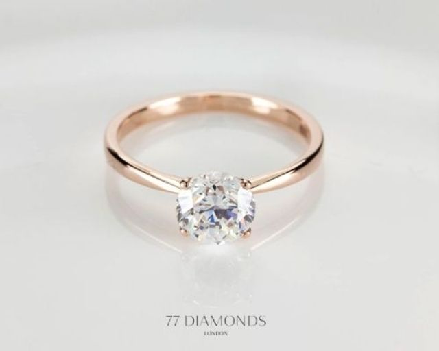 Wedding ring simple circle diamond