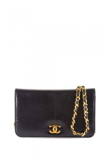 Chanel Black Lizard Ex Mini