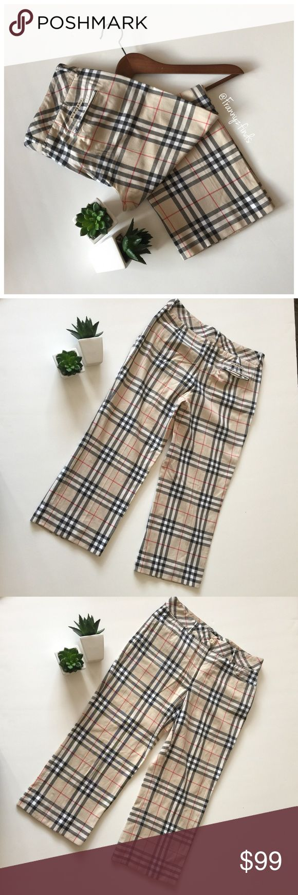 • Burberry Classic Golf Capri • NWOT • Classic Burberry Print • Two Front Pockets • One Mock Back Pocket • Belt Loop • Zipper and Button Closure • Waist 32 • Hip 38 • Length 32 • Inseam 21 Burberry Pants Capris