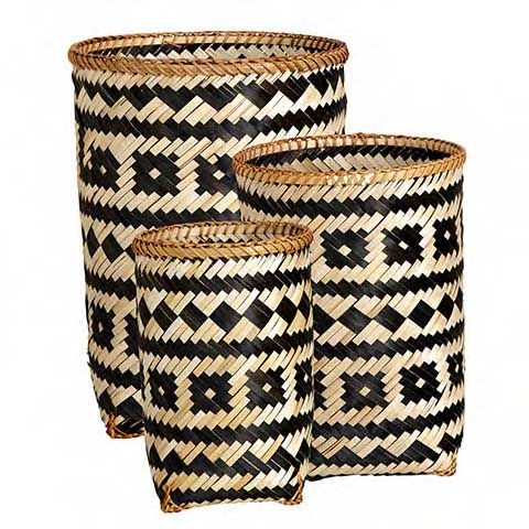 COLLECT Basket Set of 3 round