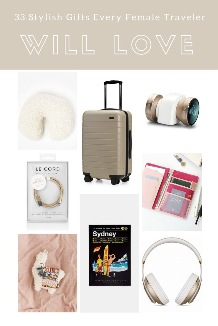 33 Stylish Gifts Every Female Traveler Will Love -- from sleek noise cancelling headphones and GoPro accessories to cashmere travel wraps, luxurious neck pillows and more. Read more at Live Like it's the Weekend.