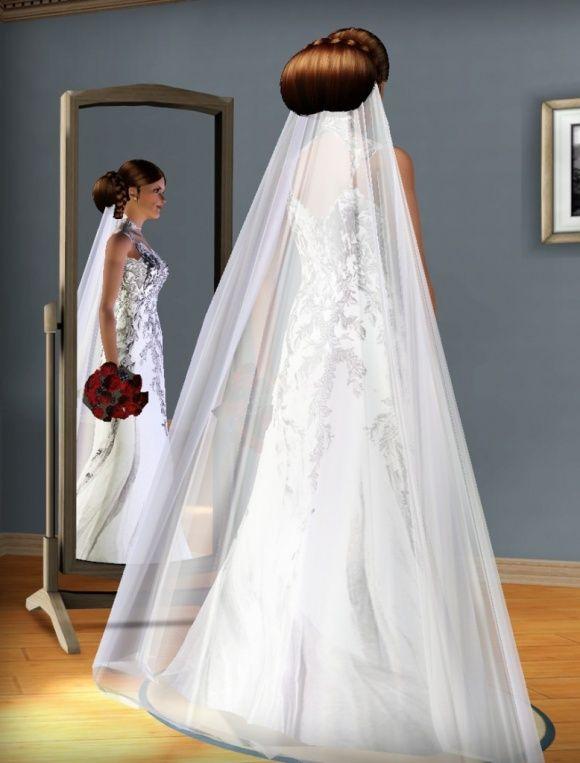 Sims 4 Wedding Veil.Sims 2 Wedding Veil
