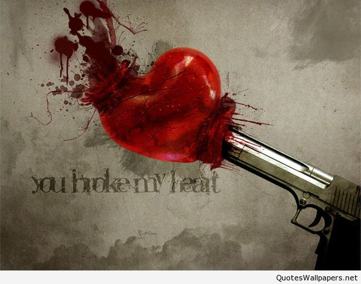 Broken Heart Wallpapers With Blood collection 12+ Wallpapers