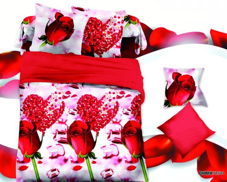 Têxteis para o Lar, amor romântico conjuntos de cama 3D estilo 4 Pcs de capa de edredon fronha folha de cama Queen size Completa roupas de cama em Conjuntos de cama de Home & Garden no AliExpress.com | Alibaba Group