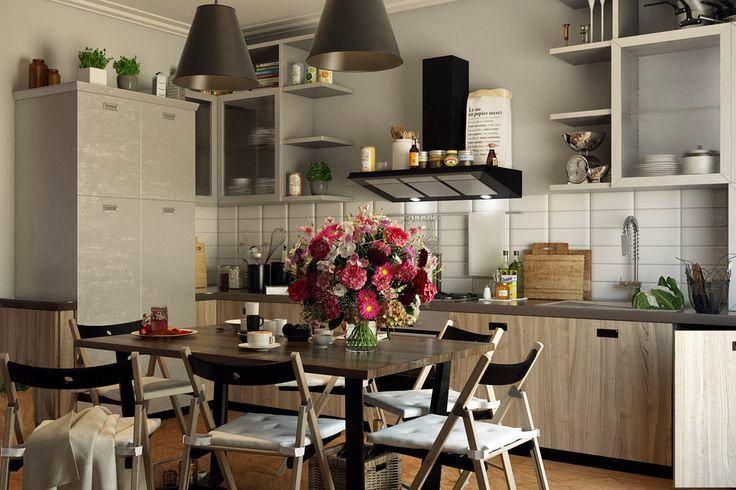 Совмещение кухни и столовой зоны в одном пространстве встречается как в просторных апартаментах, так и в малогабаритном жилье. Сегодня мы расскажем вам о том, как сделать так, чтобы это сочетание было максимально комфортным и красивым