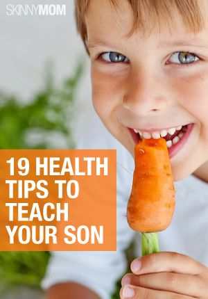 Teaching your kids can be tough! Here are some great health tips for your son.